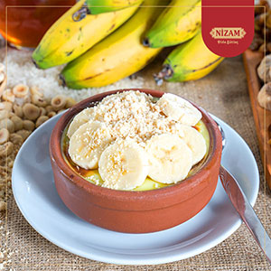 BANANA AND HAZELNUT RICE PUDDING